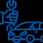 redni servis avtomobila ikona avto jarc